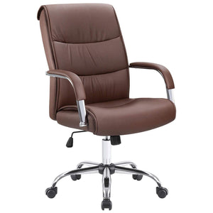 Furniwell High Back Office Desk Chair Conference Leather Executive with Padded Armrests,Adjustable Ergonomic Swivel Task Chair with Lumbar Support
