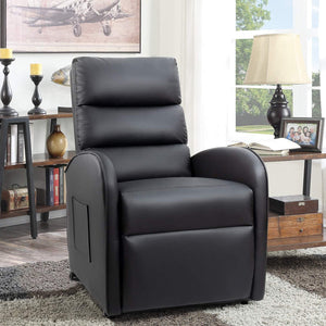 Furniwell Electric Power Lift Recliner Chair Sofa PU Leather Recliner for Elderly Lounge Living Room Chair with Safety Motion Reclining Mechanism