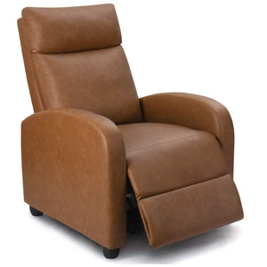 Furniwell Massage Recliner Single Chair Padded Seat PU Leather Living Room Sofa Home Theater Seating