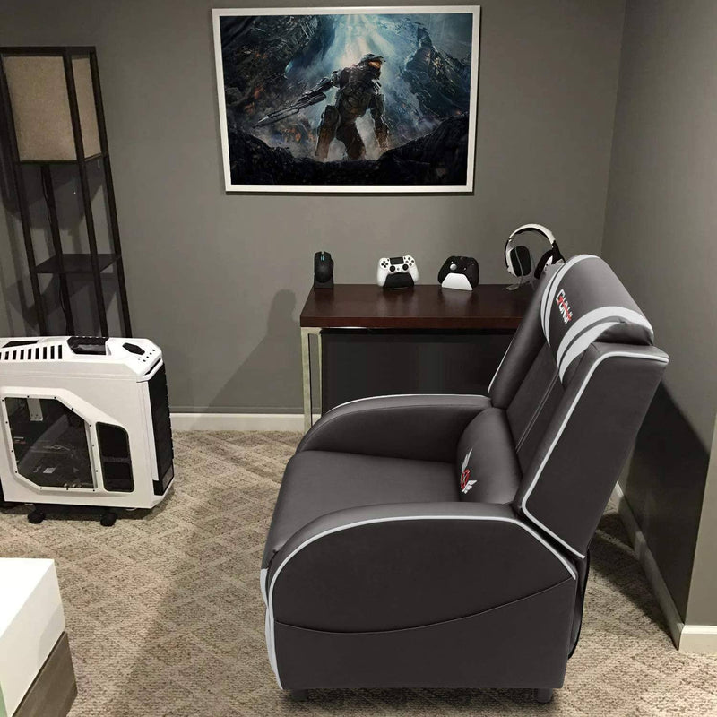 Furniwell Gaming Recliner Chair PU Leather Single Recliner Sofa Adjustable Modern Living Room Recliners Home Theater Recliner Seat