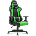 Furniwell Gaming Chair Sracer PC Racing Chair Computer Desk Chair PU Leather Executive Ergonomic Swivel Chair with Headrest and Lumbar Support
