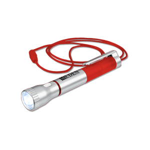 Flashlight with Pen and Lanyard