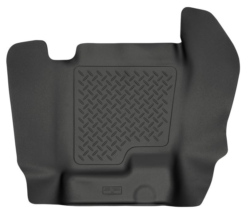 Husky Liners 07-12 Chevy Silverado/GMC Sierra Crew Cab WeatherBeater Center Hump Black Floor Liner
