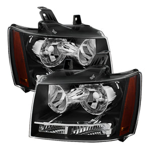 Xtune Chevy Suburban 1500/2500 07-14 Crystal Headlights Black HD-JH-CSUB07-AM-BK