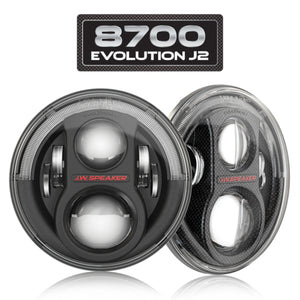 JW SPEAKER LED HEADLIGHTS – MODEL 8700 EVOLUTION J2 SERIES