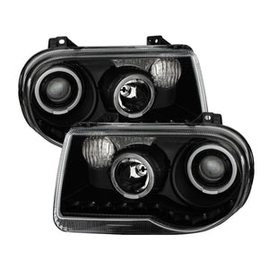 Xtune Chrysler 300C 05-10 ( Not 300 ) Halo Projector Headlights Black PRO-JH-C300C-LED-BK