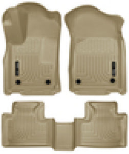 Husky Liners 16 Dodge Durango/Jeep Grand Cherokee Weatherbeater Tan Front & 2nd Seat Floor Liners