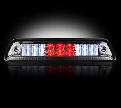 RECON FORD 09-14 F150 – RED LED 3RD BRAKE LIGHT KIT W/ WHITE LED CARGO LIGHTS - SMOKED LENS