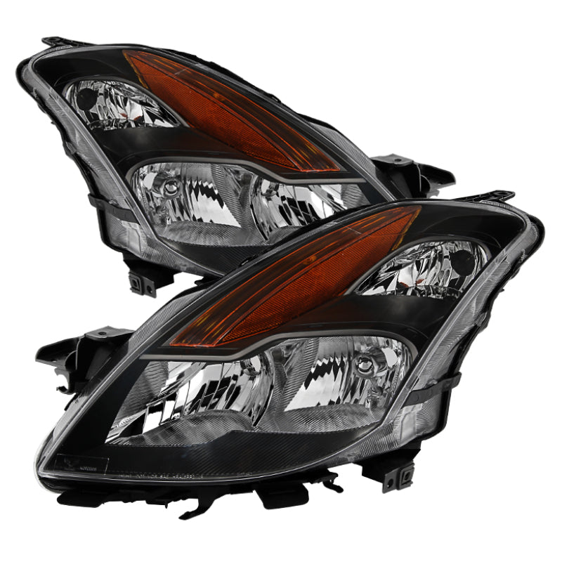 Xtune Nissan Altima Coupe 08-09 Halogen Only OEM Headlights Black HD-JH-NA08-2D-BK