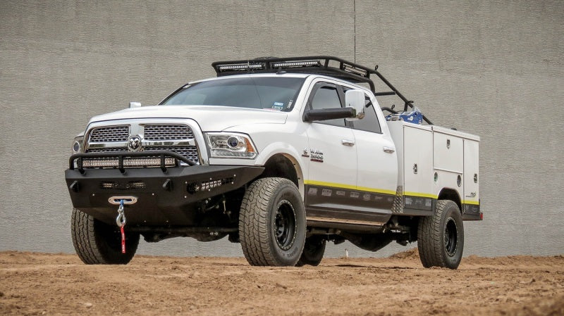 Addictive Desert Designs 10-18 Dodge RAM 2500 HoneyBadger Front Bumper w/ Winch Mount