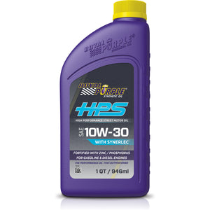 ROYAL PURPLE ROYAL PURPLE HPS 10W-30 HIGH PERFORMANCE STREET SYNTHETIC MOTOR OIL WITH SYNERLEC - 1 QUART BOTTLE