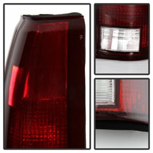 xTune Chevy/GMC C1500/C2500/C3500 88-01 OEM Style Tail Light - Red Smoked ALT-JH-CCK88-OE-RSM