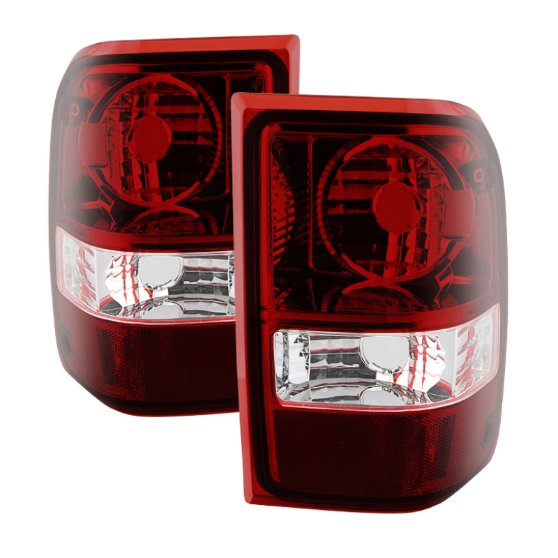 Xtune Ford Ranger 01-11 OEM Style Tail Lights -Dark Red ALT-JH-FR06-OE-RSM