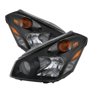 Xtune Nissan Quest 04-09 Crystal Headlights Black HD-JH-NQ04-AM-BK