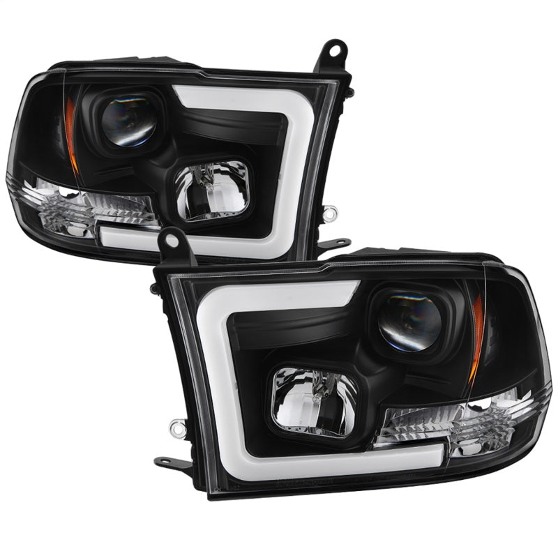 Spyder 09-16 Dodge Ram 1500 Version 2 Headlights Light Bar DRL Black PRO-YD-DR09V2-LBDRL-BK