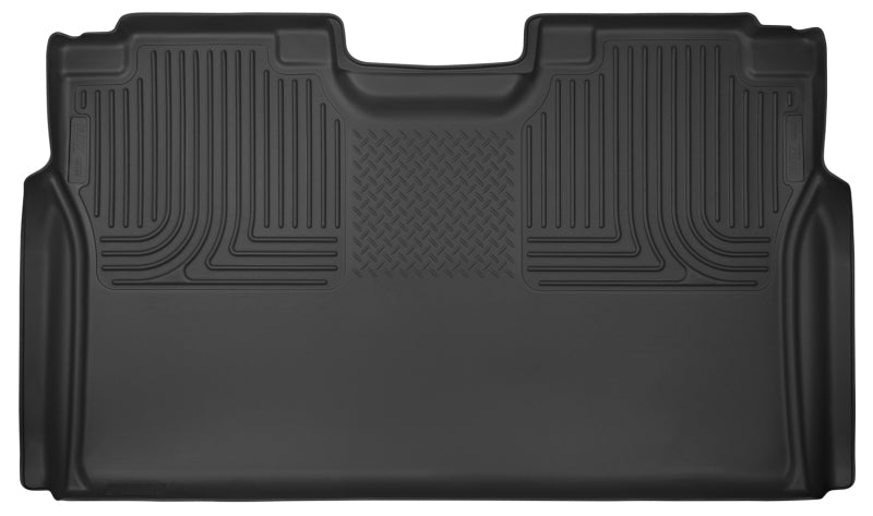Husky Liners 15-17 Ford F-150 SuperCrew X-Act Contour Black 2nd Seat Floor Liners (Full Coverage)