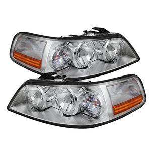 Xtune Lincoln Town Car 05-11 Crystal Headlights Chrome HD-JH-LTC05-AM-C
