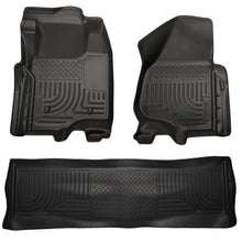 Husky Liners 11-12 Ford SD Crew Cab WeatherBeater Combo Black Floor Liners (w/o Manual Trans Case)