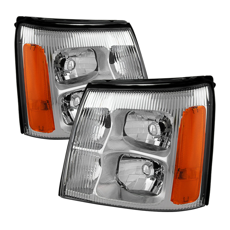 Xtune Cadillac Escalade Hid Model Only 2003-2006 OEM Style Headlights Chrome HD-JH-CAES03-HID-C