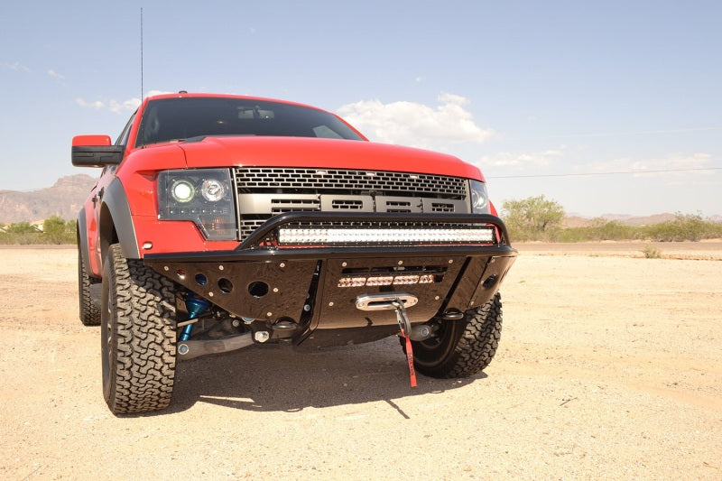 Addictive Desert Designs 10-14 Ford F-150 Raptor Stealth Front Bumper w/ Winch Mount