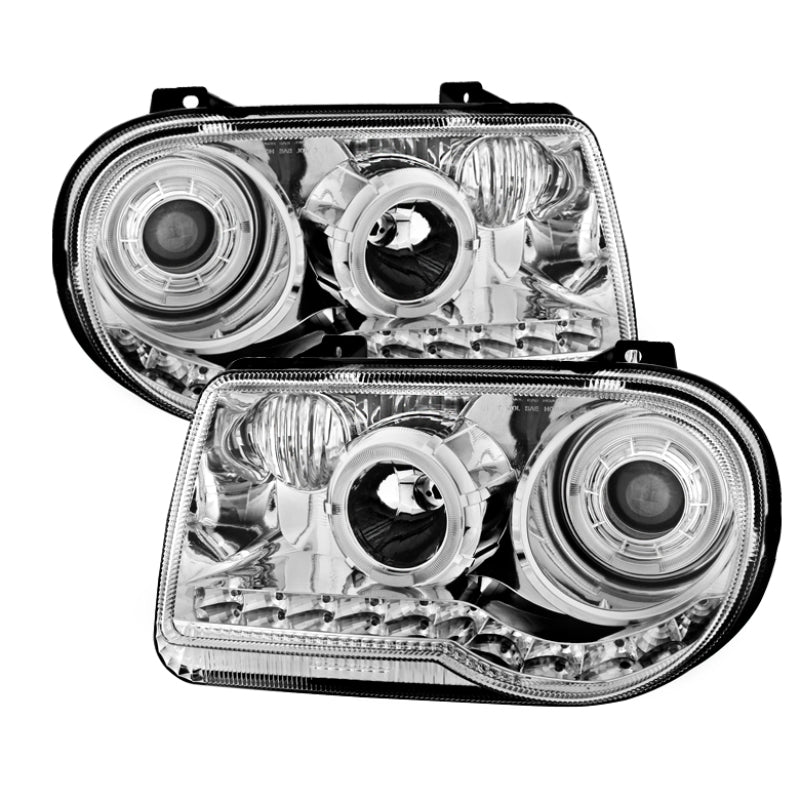 Xtune Chrysler 300C 05-10 ( Not 300 ) Halo Projector Headlights Chrome PRO-JH-C300C-LED-C