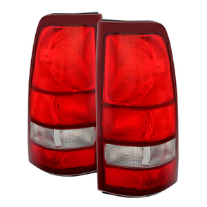 Xtune Chevy Silverado 99-02 / GMC Sierra 99-06 OE Style Tail Lights Red Clear ALT-JH-CS99-OE-RC