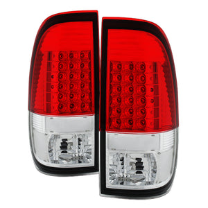 Xtune Ford F150 Styleside 97-03 Super Duty 99-07 LED Tail Lights Red Clear ALT-JH-FF15097-LED-RC