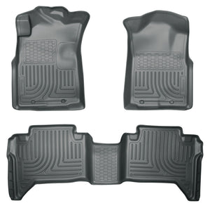 Husky Liners 05-13 Toyota Tacoma WeatherBeater Combo Grey Floor Liners