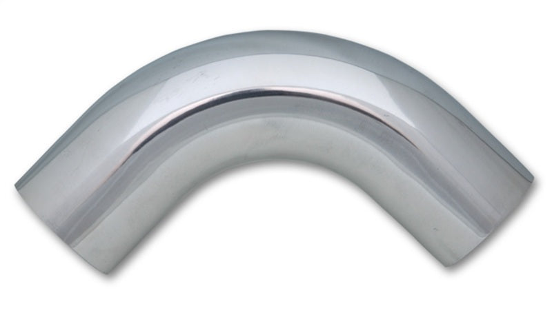 Vibrant 3.5in O.D. Universal Aluminum Tubing (90 degree bend) - Polished