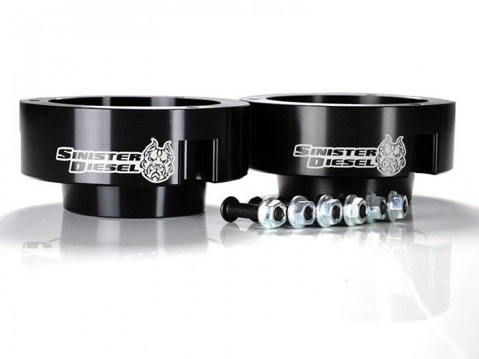 Sinister Diesel - SD-9409LVL-BLK - Sinister Diesel Leveling Kit for Dodge Cummins 1994-2012 Black (4wd Only)