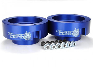 Sinister Diesel - SD-9409LVL-BLU - Sinister Diesel Leveling Kit for Dodge Cummins 1994-2012 Blue (4wd Only)