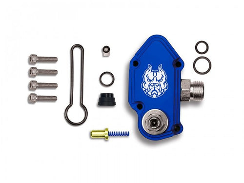 Sinister Diesel - SD-FUELBLK-6.0-ADJ - Sinister Diesel Blue Spring Kit with Adjustable Billet Spring Housing for 2003-2007 Ford Powerstroke 6.0L