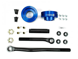 Sinister Diesel - SD-DODGE-TB-LVL-BLU-03 - Sinister Diesel Adjustable Track Bar and Leveling Kit for Dodge Cummins 2003-2012 4WD (Blue)