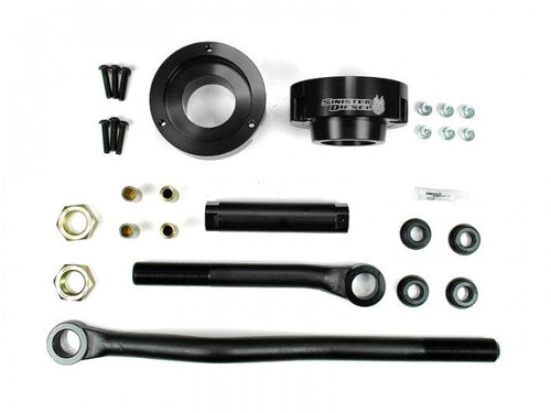 Sinister Diesel - SD-DODGE-TB-LVL-BLK-03 - Sinister Diesel Adjustable Track Bar and Leveling Kit for Dodge Cummins 2003-2012 4WD (Black)