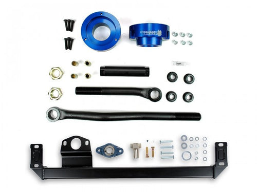 Sinister Diesel - SD-DODGE-TB-SBS-LVL-BLU-03 - Sinister Diesel Adjustable Track Bar, Steering Box Support, and Leveling Kit for Dodge Cummins 2003-2009 4WD (Blue)
