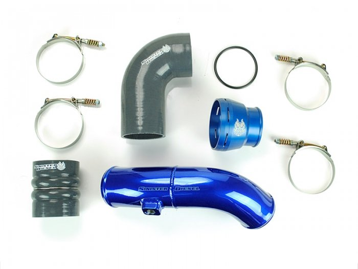 Sinister Diesel - SD-INTRPIPE-6.7P-COLD-11 - Sinister Diesel Cold Side Charge Pipe for 2011-2016 Ford Powerstroke 6.7L
