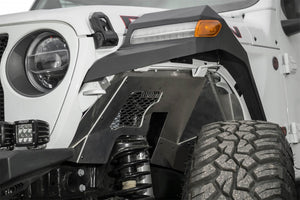 Addictive Desert Designs 2018 Jeep Wrangler JL Raw Aluminum Rock Fighter Front Inner Fender Liner