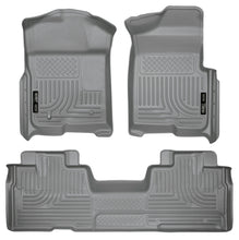 Husky Liners 09-12 Ford F-150 Super Cab WeatherBeater Combo Gray Floor Liners