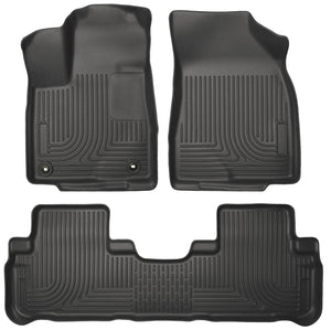 Husky Liners 14 Toyota Highlander Weatherbeater Black Front & 2nd Seat Floor Liners