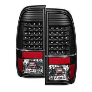 Xtune Ford F150 Styleside 97-03 / F250/350/450/550 99-07 LED Tail Lights Black ALT-JH-FF15097-LED-BK