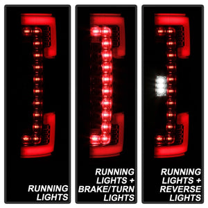 Spyder 17-18 Ford F-250 SD (w/Blind Spot Sensor) LED Tail Lights - Chrm (ALT-YD-FS17BS-LED-C)