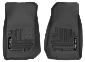 Husky Liners 2007-2014 Jeep Wrangler (2Dr/4Dr Unlimited) X-Act Contour Black Front Floor Liners