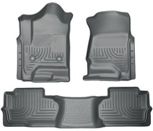 Husky Liners 14 Chevrolet Silverado/GMC Sierra Dbl Cab WeatherBeater Grey Front&2nd Seat Floor Liner