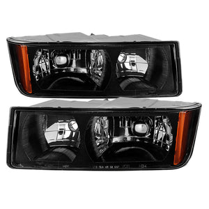 Xtune Chevy Avalanche w/ Body Cladding Only 02-06 OEM Headlights - OEM (Black) HD-JH-CAVA02-AM-BK