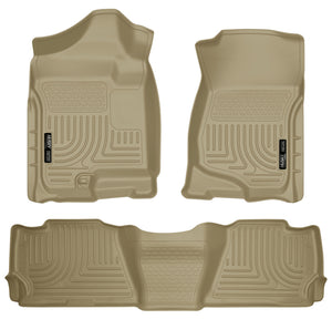 Husky Liners 07-13 GM Escalade ESV/Avalanche/Suburban WeatherBeater Tan Front/2nd Row Floor Liners