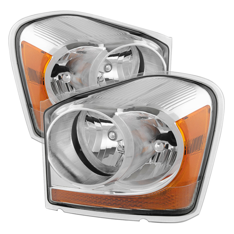 Xtune Dodge Durango 04-05 OEM Headlamps Chrome HD-JH-DDU04-AM-C