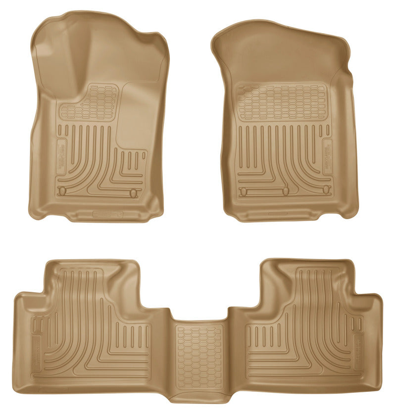 Husky Liners 11-13 Dodge Durango / 11-13 Jeep Grand Cherokee WeatherBeater Combo Tan Floor Liners