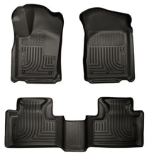 Husky Liners 11-13 Dodge Durango / 11-13 Jeep Grand Cherokee WeatherBeater Combo Black Floor Liners