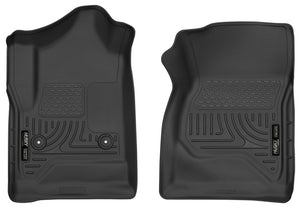 Husky Liners 14-17 Chevrolet Silverado 1500 Standard Cab X-Act Contour Black Front Floor Liners