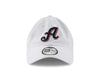 "New Era ""A"" Logo Casual Classic Twill White Adjustable Cap"